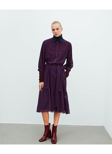 Ipekyol Kadın  Elbise IW6200002300 Mürdüm